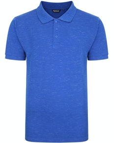 Bigdude Inkjet Marl Polo Shirt Royal Blue Tall