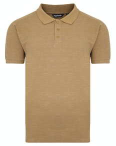 Bigdude Inkjet meliertes Poloshirt Khaki Tall Fit