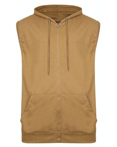 Bigdude Loop Back Sleeveless Hoody Khaki