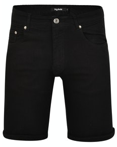 Bigdude Stretch Jeans Shorts Schwarz