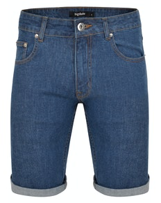 Bigdude Stretch Jeans Shorts Mid Wash