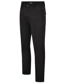 Bigdude Stretch Chino Trousers Black Tall