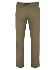 Bigdude Stretch Chino Trousers Light Khaki