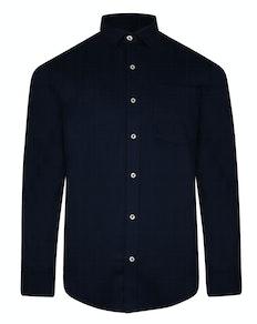 Bigdude Fine Twill Long Sleeve Shirt Navy
