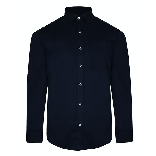 Bigdude Fine Twill Long Sleeve Shirt Navy