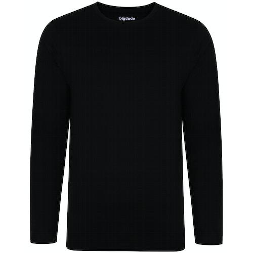 Bigdude Langarm Shirt Schwarz