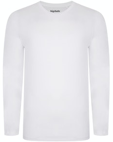 Bigdude Long Sleeve T-Shirt White Tall