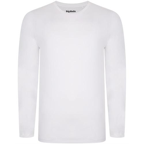 Bigdude Long Sleeve T-Shirt White Tall