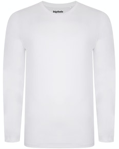 Bigdude Long Sleeve T-Shirt White