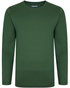 Bigdude Long Sleeve T-Shirt Deep Green Tall