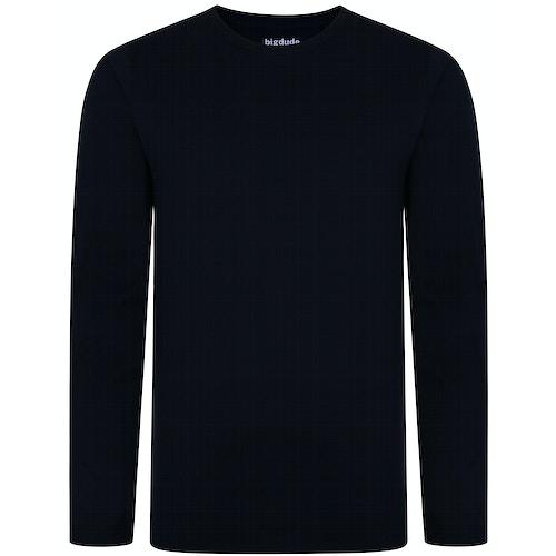 Bigdude Long Sleeve T-Shirt Navy Tall