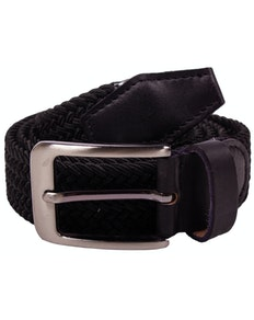 Robbie Stretch Braided Belt Black