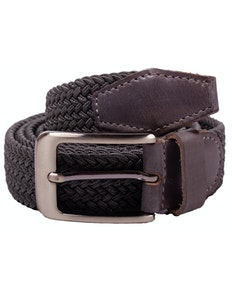 Robbie Stretch Braided Belt Grey