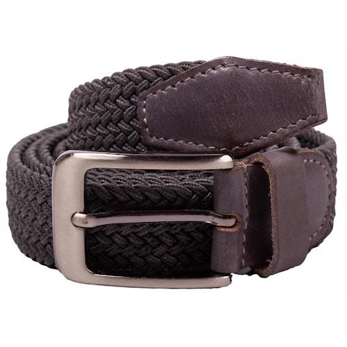 Robbie Stretch Braided Belt Grey