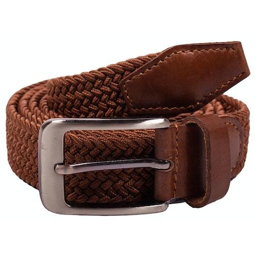 Robbie Stretch Braided Belt Brown