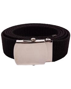 Eddie Woven Canvas Belt Black