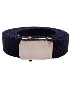 Eddie Woven Canvas Belt Navy
