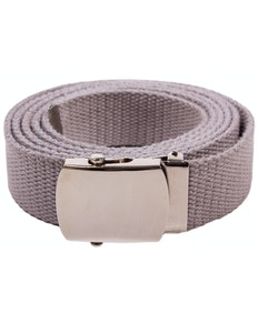 Eddie Woven Canvas Belt Grey