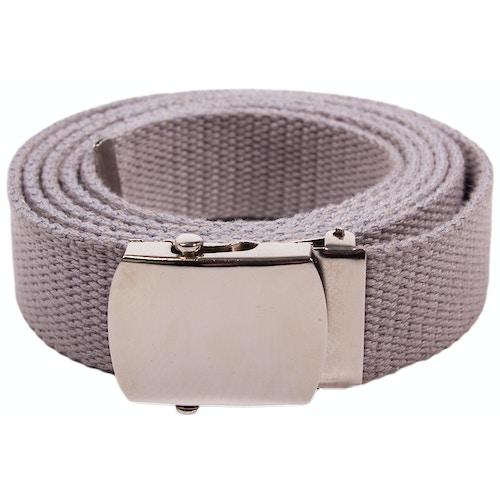 Eddie Woven Canvas Belt Grey