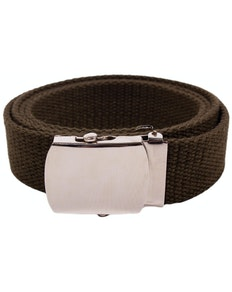 Eddie Woven Canvas Belt Green