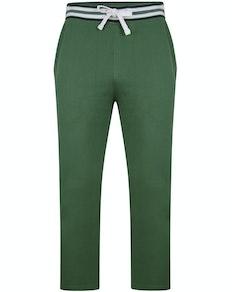 Bigdude Contrast Stripe Waistband Joggers Deep Green