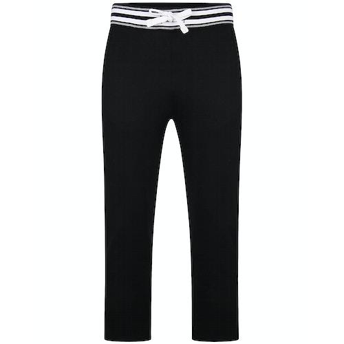 Bigdude Contrast Stripe Waistband Joggers Black