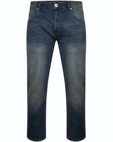 Bigdude Lightweight Stretch Jeans Mid Wash