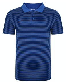 Bigdude Striped Polo Shirt New Royal/Navy