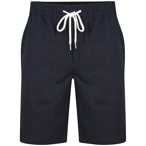 Bigdude Rip Stop Cotton Shorts Black