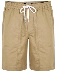 Bigdude Rip Stop Cotton Shorts Khaki