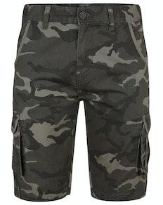 Bigdude Camo Cargo Shorts Khaki