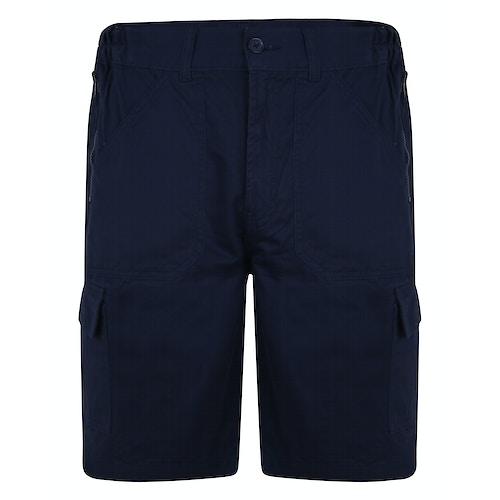 Bigdude Stretch Bund Cargo Shorts Marineblau