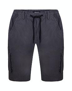 Bigdude Stretch Bund Cargo Shorts mit Tunnelzug Grau