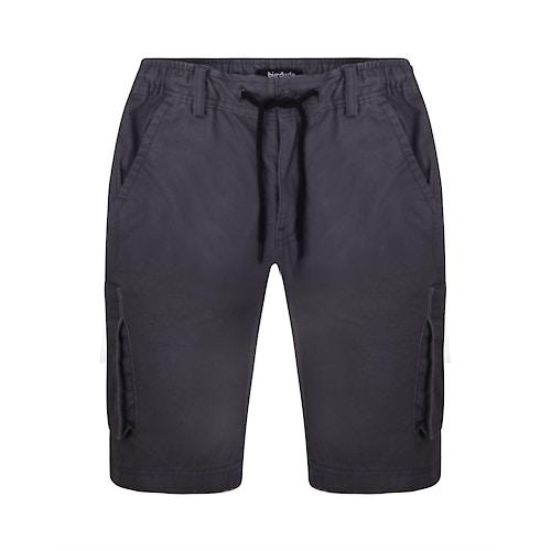Bigdude Elasticated Waist Cargo Shorts with Drawstrings Slate