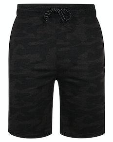 Bigdude Marl Camo Jogger Shorts Charcoal