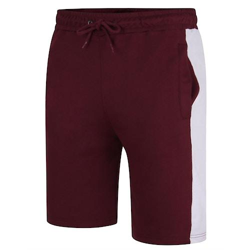 Bigdude Contrast Stripe Shorts Burgundy