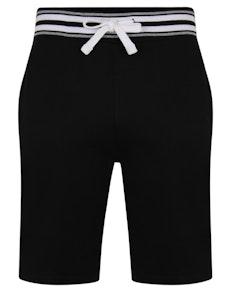Bigdude Contrast Stripe Waistband Shorts Black