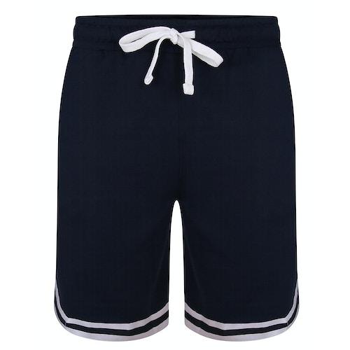 Bigdude Doppelstreifen Shorts Marineblau