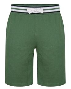 Bigdude Contrast Stripe Waistband Shorts Deep Green