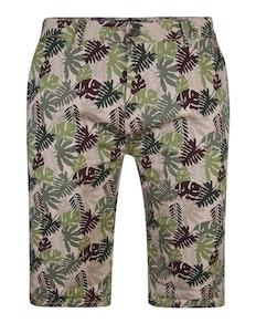 Bigdude Blätter Print Stretch Chino Shorts Grün