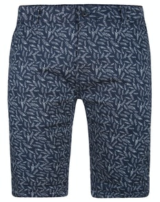 Bigdude Blätter Print Stretch Chino Shorts Blau