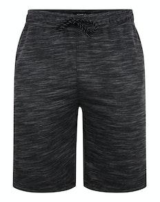 Bigdude Inkjet Marl Jogger Shorts Black