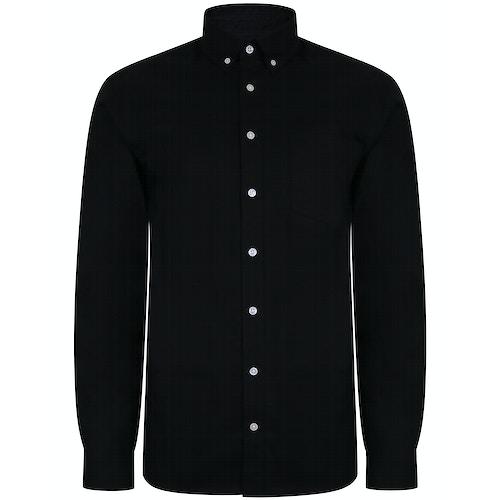 Bigdude Oxford Hemd Schwarz