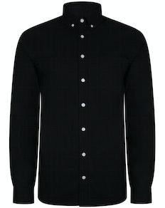 Bigdude Oxford Long Sleeve Shirt Black Tall