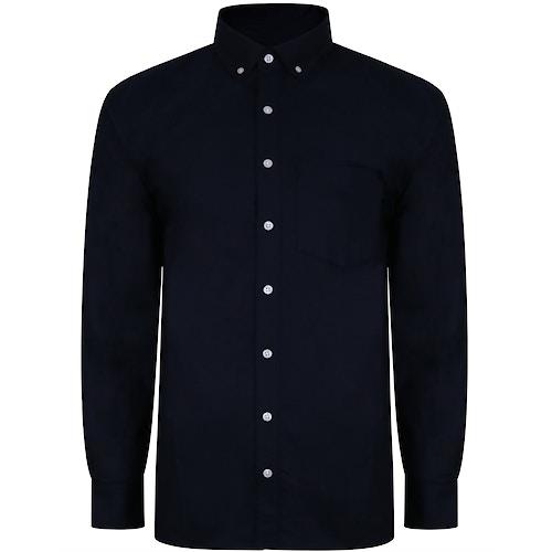 Bigdude Oxford Hemd Marineblau Tall Fit