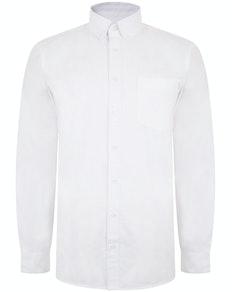 Bigdude Oxford Hemd Weiß
