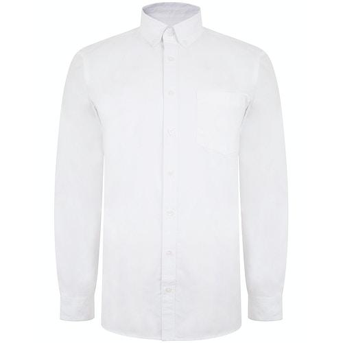 Bigdude Oxford Hemd Weiß Tall Fit