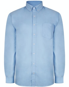 Bigdude Oxford Long Sleeve Shirt Light Blue