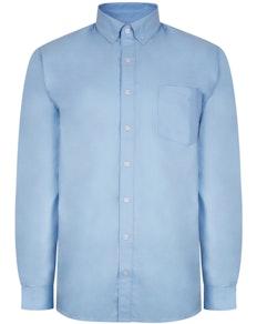 Bigdude Oxford Hemd Hellblau