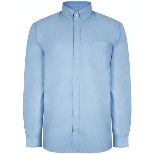 Bigdude Oxford Long Sleeve Shirt Light Blue Tall